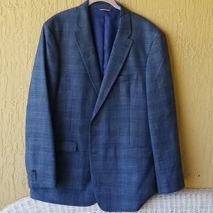 Tommy Hilfiger Blue plaid suit jacket Sz46L
